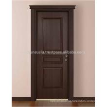 Porta moldada interior WPC (porta composta de plástico em madeira), prova de água, acústica