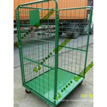 3 Sided Open Front Steel Roll Container Capacity