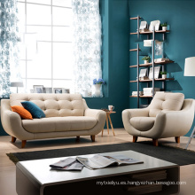 Sofá de cuero moderno de apartamento pequeño salón sofá conjunto