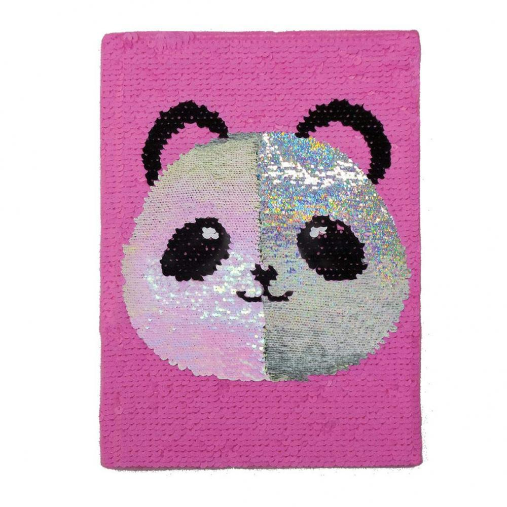 Glittery Flip Panda Sequin Notebook 1