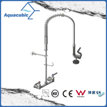 Lead Free Brass Wall Mounted Pull out Health Kitchen Faucet