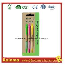 Дешевая бумажная шариковая ручка для школьного и офисного оборудования