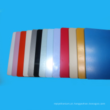 Folha natural dos materiais do ABS do Virgin da cor diferente