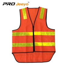 hi vis polyester fabric safety vest with pvc  tape
