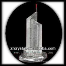 Magnifique modèle de bâtiment en cristal H034