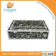 Hotel Amenity Luxury Black MOP caja de almacenamiento Shell en forma de zigzag