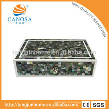 Hotel Amenity Luxury Black MOP Shell Boîte de rangement en forme de zigzag