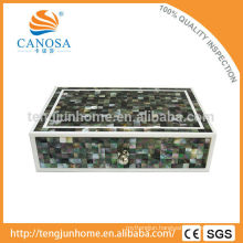 Hotel Amenity Luxury Black MOP Shell Storage Box in Zigzag Shape