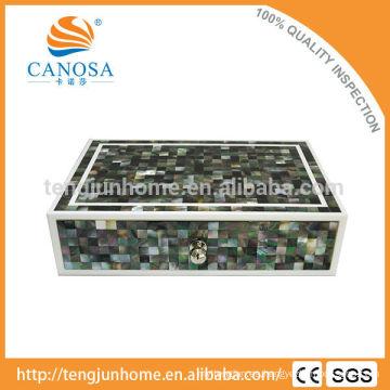 CBM-ABX Hotel Amenity Set Negro MOP Zigzag Caja de almacenamiento