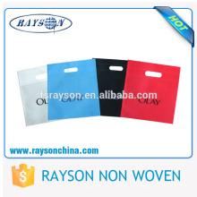 Termocompresión que imprime el bolso cortado con tintas D no tejido de la manija superior
