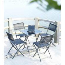 Exterior/jardim sling jogo de jantar de mobília 5pc