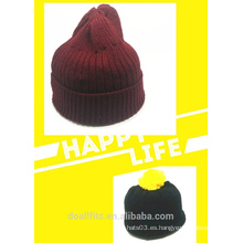 2016 nuevo diseño de encargo knittet sombrero precio barato que en china
