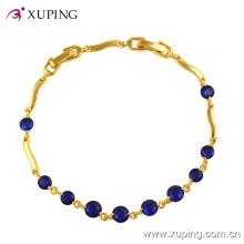 Xuping Fashion 24k Gold Edelstein CZ Schmuck Armband-71459