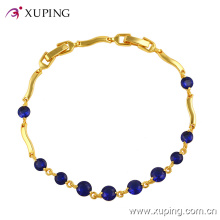 Xuping Fashion 24k Gold Gemstone CZ Jewelry Bracelet -71459