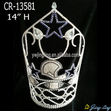"""14"""" Ship Star Rhinestone Pageant Crowns Party"""
