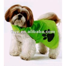 Grün 100 % Polyester Hund reflektierende Warnweste