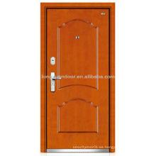 Puerta blindada de madera de acero acabado