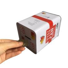 European Begrüßen Metall Münze Box für Geld Verpackung Box