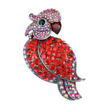 Culorful Rhinestone Zinc Alloy Parrot Design Brooch for Party