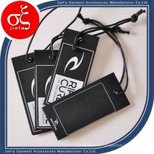 Etiquetas de papelão impressas personalizadas chiques / etiqueta de papel pendurada com ilhó