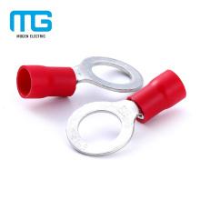 Terminal isolado do anel do bronze quente da venda do PVC isolado para a conexão do fio