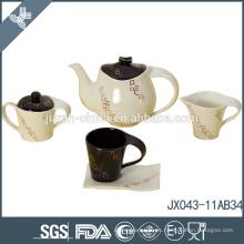 2015! Juego de té de porcelana 15 piezas, etiqueta dorada