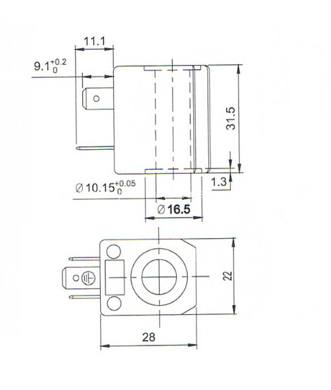 beverage dispensor valve coil drawing