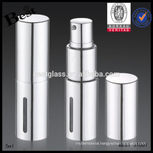 silver aluminum 5ml glass bottle for perfume, lipsticks 5ml glass bottle for perfume