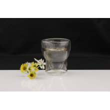 Clear Double Wall Glass Cup for Home Decoration