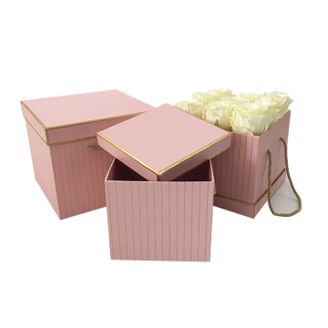 Stor Square Shape Bröllop Flower Box med lock