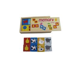 32pcs jouets en bois de jeu de mémoire pour des enfants