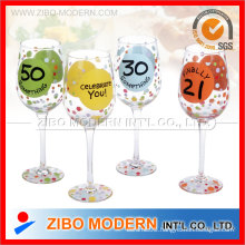 High Quality Wine Glass with Printing