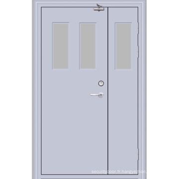 Porte en acier ignifuge / porte évaluée par feu (YF-F05)