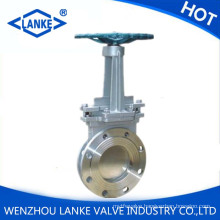 Cast Steel Metal Seat Manual Knife Type Gate Valve