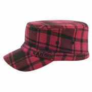 Women's Plaid Military Style Hat, High-quality, Eco-friendly, Various Sizes and Colors Available