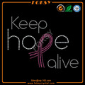 keep hope alive rhinestone t shirt designs