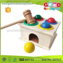 Baby Hand Exercise Wooden Hammering Balls Toys w/ balls, hammer, box