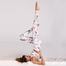 Recycled Wholesale Professional Sportswear  Sublimated Yoga Pants And Bra Design For Woman