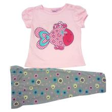 Verão bebê menina crianças ternos para roupas de crianças