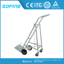 SF-DJ143 hospital ues stainless steel oxygen cylinder trolley
