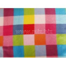 Tissu coloré en polaire plaid