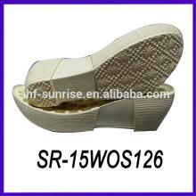 Frauen Keil PU Schuh Sohle Schuh Sohle Fabrik Holz Schuhsohle