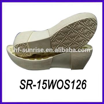women wedge pu shoe sole shoe sole factory wood shoe sole