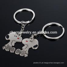 Exquisite criativo pequenos presentes Amante chaveiro chave pequeno cão chaveiro chave estilo anel de moda YSK013