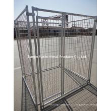 Fourniture Cage de caisse de chien / Cage de caisse en métal avec caisse pour chien / cage de chien soudé à vendre / Volaille Cage d'alimentation agricole pour cochon de poulet Cochon de chien