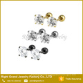 Zircon prong Setting Ear Cartilage Tragus Body Jewelry Helix Piercing