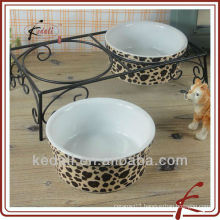 porcelain pet dog bowl TOS048
