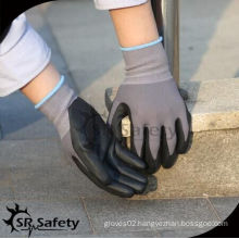 SRSAFETY cheap price gloves/spandex micro-foam nitrile gloves/handing gloves