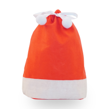 Ribbon Ball Red Christmas Hat Christmas Gift Bag