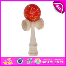 Tradition Game Kendama, Fashion Wooden Kendama with Colorful Balls for Wholesale, Wooden Kendama Toy with 16*6.8*5.5 Cm W01A041